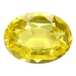 Oval Shape Yellow Sapphire Stone