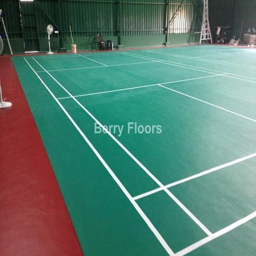 Synthetic Flooring For Indoor Shuttle Court