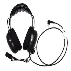 Dual Muff Headset with Swivel Boom Microphone