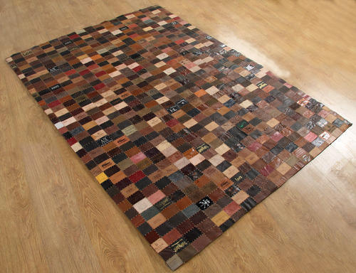 Recycled Denim Label Rug