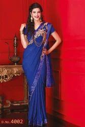 Elegant Hand Embroidered Saree