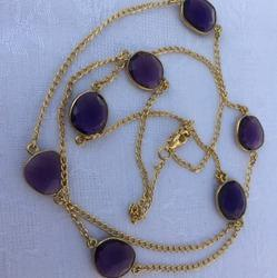 Semiprecious Stones Long Chain