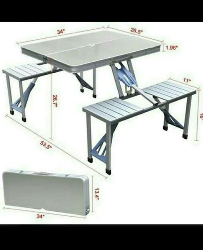Folding Tables Picnic Table With Umbrella Manufacturer From Pune - Metal picnic table with umbrella