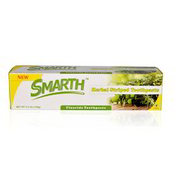 Smarth Herbal Striped Toothpaste 5.3 Oz (150g)