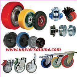 Caster Wheel, Solid Rubber Tyre Wheels, Polyurethane, Nylon