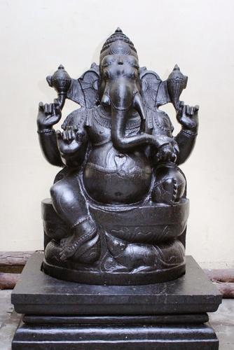 Divine black stone statues and sculptures
