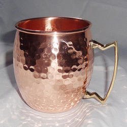 100% Pure Copper Hammered Moscow Mule Mugs Fda Approved