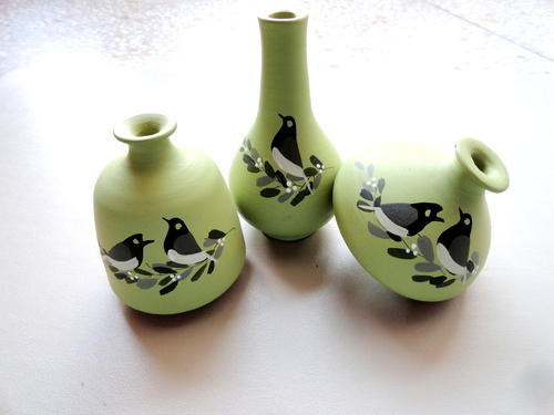 Hand Painted Vases Miniature Terracotta Pots Manufacturer From Thane