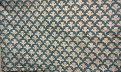 Chinese Fan Design Block Printed Fabric