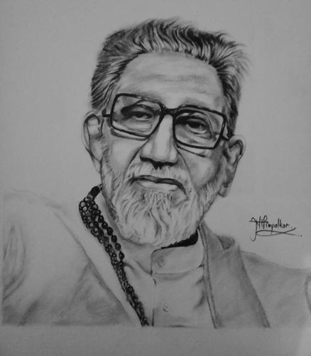 Balasaheb thackray portrait sketch
