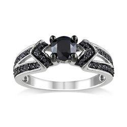 Awesome Round Black Diamond Ring