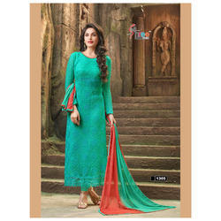Designer Chiffon Embroidered Suits