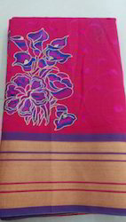 Silk Cotton Embroidering Sarees