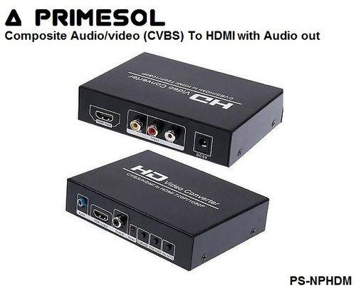 Composite Video(CVBS) & Audio  To HDMI Primesol  PS-NPHDM
