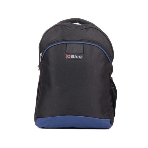 Black & Blue Trendy Laptop Backpack Bag