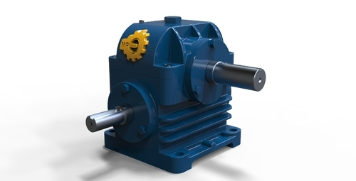 Horizontal Worm Reduction Gearbox - Single Shaft
