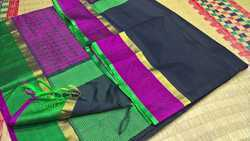 Silk Border Blouse Jacquard Silk Cotton Sarees
