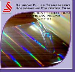 Rainbow Holographic Transparent Polyester Films
