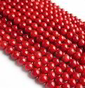 Died Tiwani Red Coral Beads