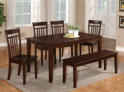 Lovely 6 Chair Teak Wood Dining Table