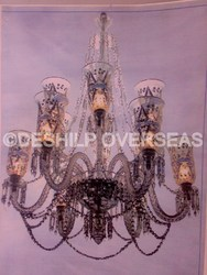 Crystal Cutting Chandelier