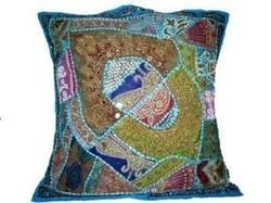Patch Beaded Cushion