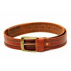 Mens Casual Tan Leather Belt