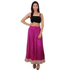 Indian Rayon Skirt