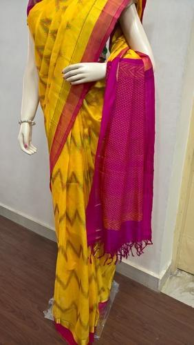 Silk Cotton Thread Work Saree
