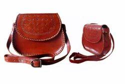 Handmade Leather Cross Body Bag