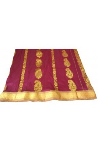 Kota Cotton Casual Wear Silk Cotton Sarees, With Stitched Blouse