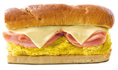 Chicken Ham Egg And Cheese Sandwiches