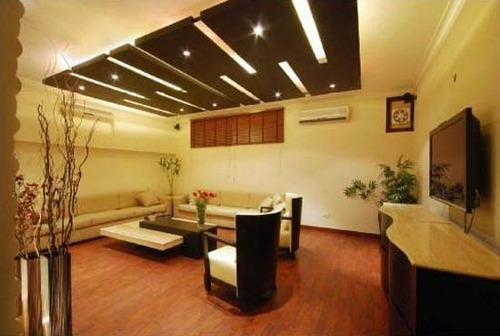 Living room pop ceiling design in virar virar west by - Interior design ceiling living room ...