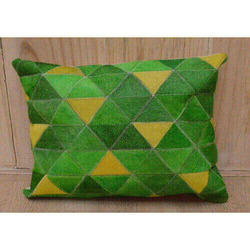 Green And Yellow Interesting Cushion Cover