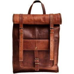 Natural Non-Branded Vintage Leather Shoulder Bag, Pure Leather: Yes
