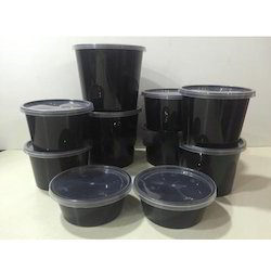 Plastic Black Colour Disposable Container
