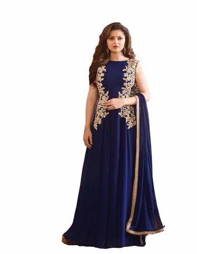 ae1404fd52 Party Wear Fancy Long Gawn, Rs 2849 /piece, Fashion Valley Dress ...