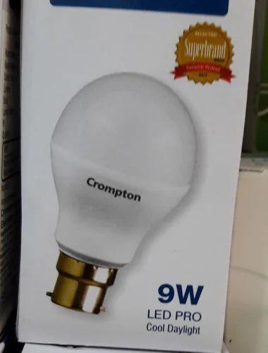 Cool Daylight Ceramic Crompton 9w Led Bulb Base Type B22 Rs 75 Piece Id 20153115512