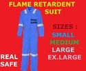 Real Safe Blue Flame Retardant Suit, For Fire