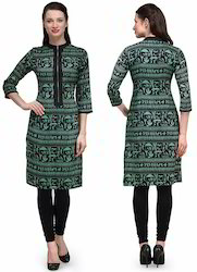 Regular Half Sleeve Rayon Kurti