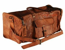 Camel Leather Pure Leather Leather Luggage Bag