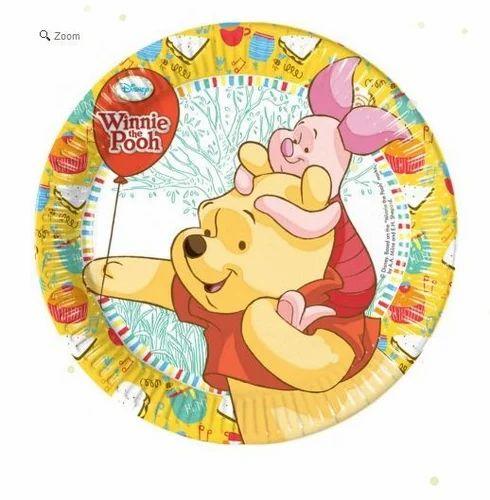Winnie The Pooh Dessert Paper Plates  sc 1 st  IndiaMART & Winnie The Pooh Dessert Paper Plates - My Birthday Supplies Mohali ...