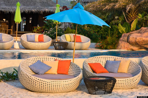 Wicker Swimming Pool Day Bed