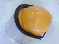 HDPE Yellow Helmet with Face Shield