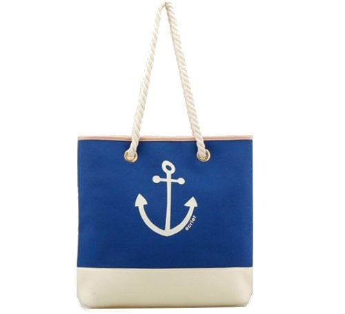 Blue   White Shopping Designer Bags Fashion Canvas Designer Shoulder Silk  Screen Printed Bags 757c5df64f36c