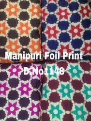 Manipuri Foil Print Fabrics