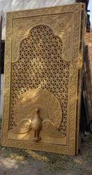 Fiber Glass Golden Jali Design Frame, For Decoration