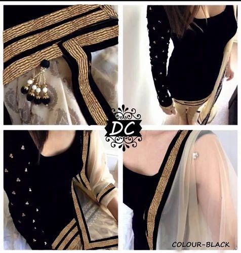 Black Velvet Dress Materials
