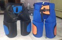 Half Cut Blue,black Hockey Padded Short Nicker(Goli), Medium,Large