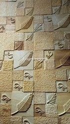 Sandstone Teakwood Yellow Designer Mosaic Wall Tile, Packaging Type: Box Packing, Thickness: 18 Mm